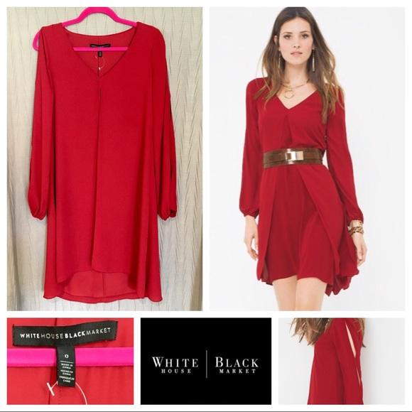 cc57b02c69b67 White House Black Market Dresses | Whbm Boho Splitfront Dress | Poshmark
